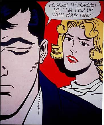 "Roy Lichtenstein's ""Forget It! Forget Me!"" at the Rose Art Museum of Brandeis University"